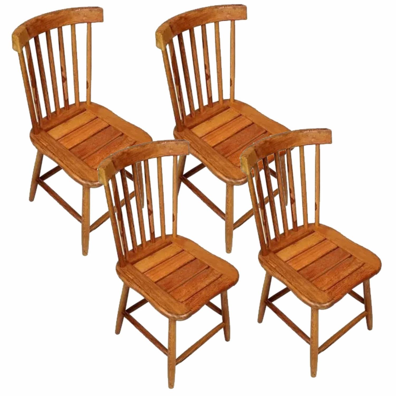 Kit 4 Cadeiras Madeira Rústica De Demolição Country Grande