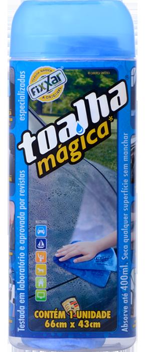 Toalha Mágica Fixxar Original Kit com 5 Multiuso Absorve Até 400ml de Líquidos Limpa Seca