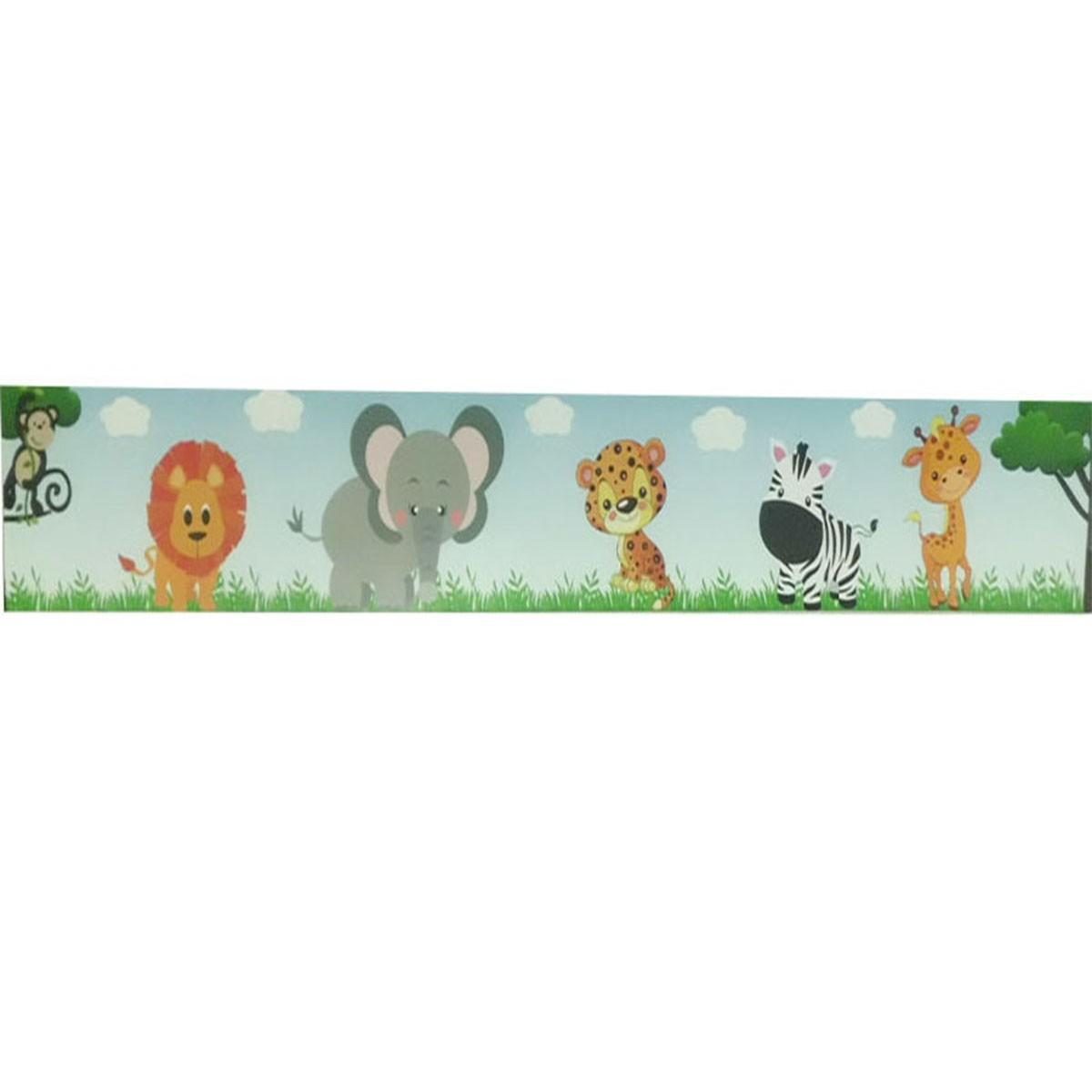 Adesivo de Parede Faixa Decorativa Kit com 6 Para Quarto Infantil Safari