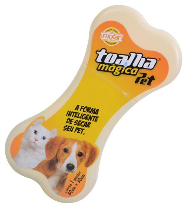 Toalha Higiênicas Mágica Linha Pet Kit com 8 Fixxar Para Bichinhos de Estimação