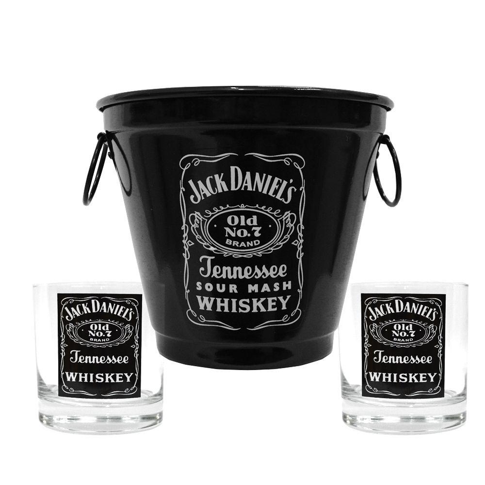 Kit Balde + 2 Copos Jack Daniel's  290ml Whisky