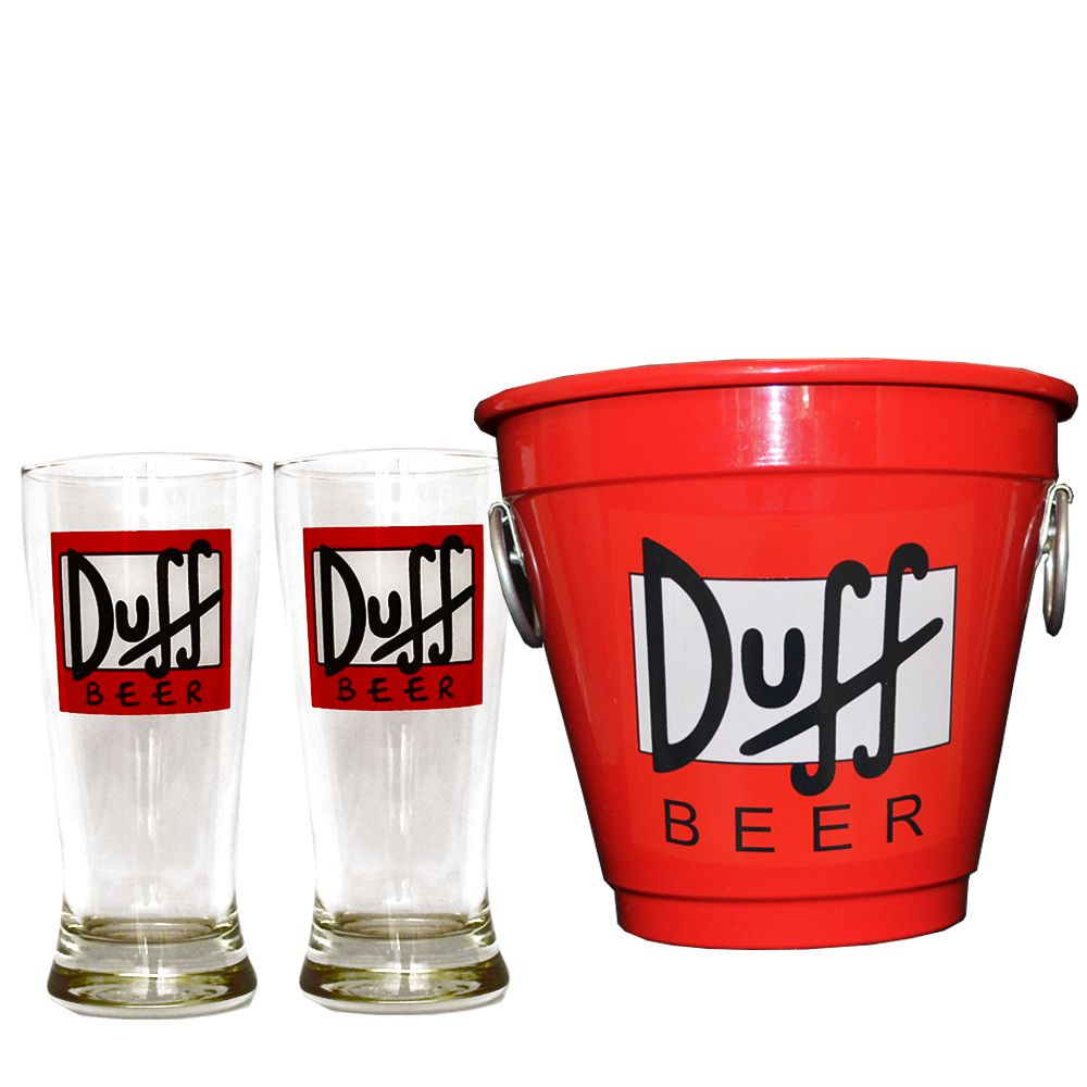 Kit Balde Cerveja + 2 Tulipa Duff Home Bar
