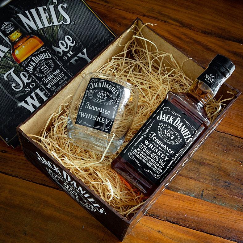 Kit Exclusivo Whisky 1 Copo e Caixa para Presentear