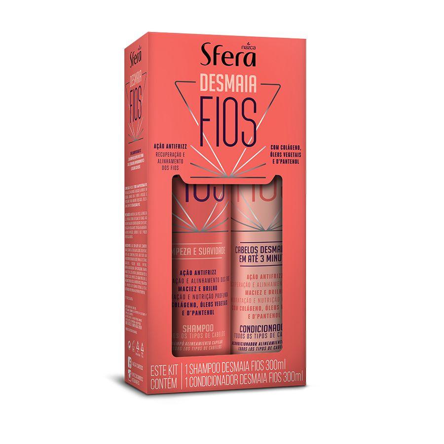 Kit Sfera Shampoo + Condicionador Desmaia Fios Antifrizz 300Ml