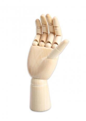 Mão de Madeira Articulada com 25cm Enfeite de Mesa