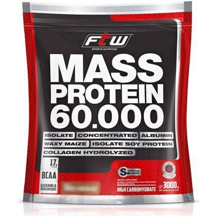 Mass Protein 60.000 Baunilha Refil 3Kg FTW