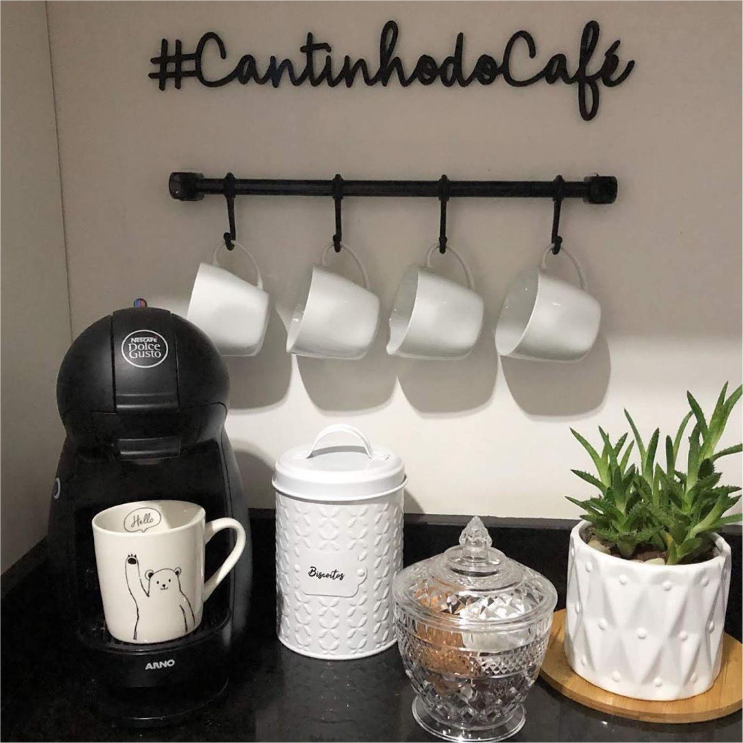Placa Cantinho do Café em MDF 48cm Corte Fino