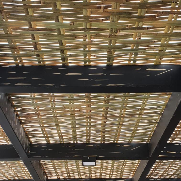 Placa de Forro De Bambu Para Pergolado, Gazebo, Restaurante 1x1,5mt