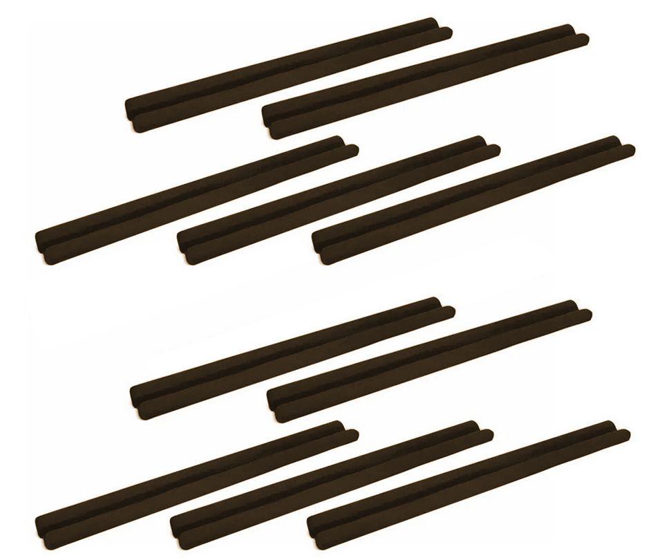 Protetor de Porta Veda Portas Kit com 10 Unidades Marrom Escuro 90cm