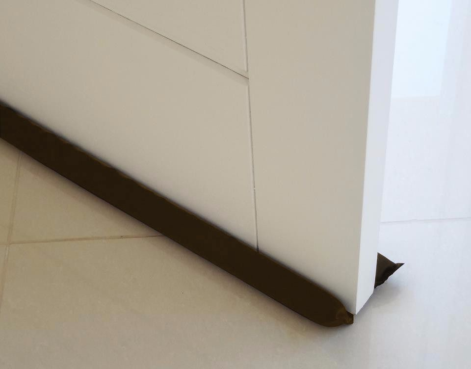 Protetor de Porta Veda Portas Marrom Escuro 80cm