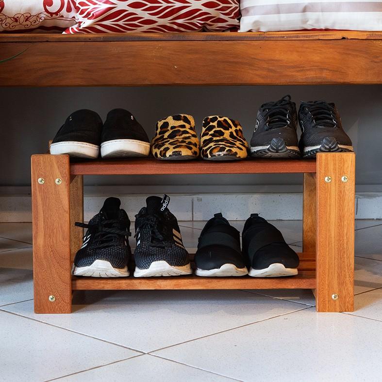 Sapateira Cumaru para Área Externa para Organizar Sapatos