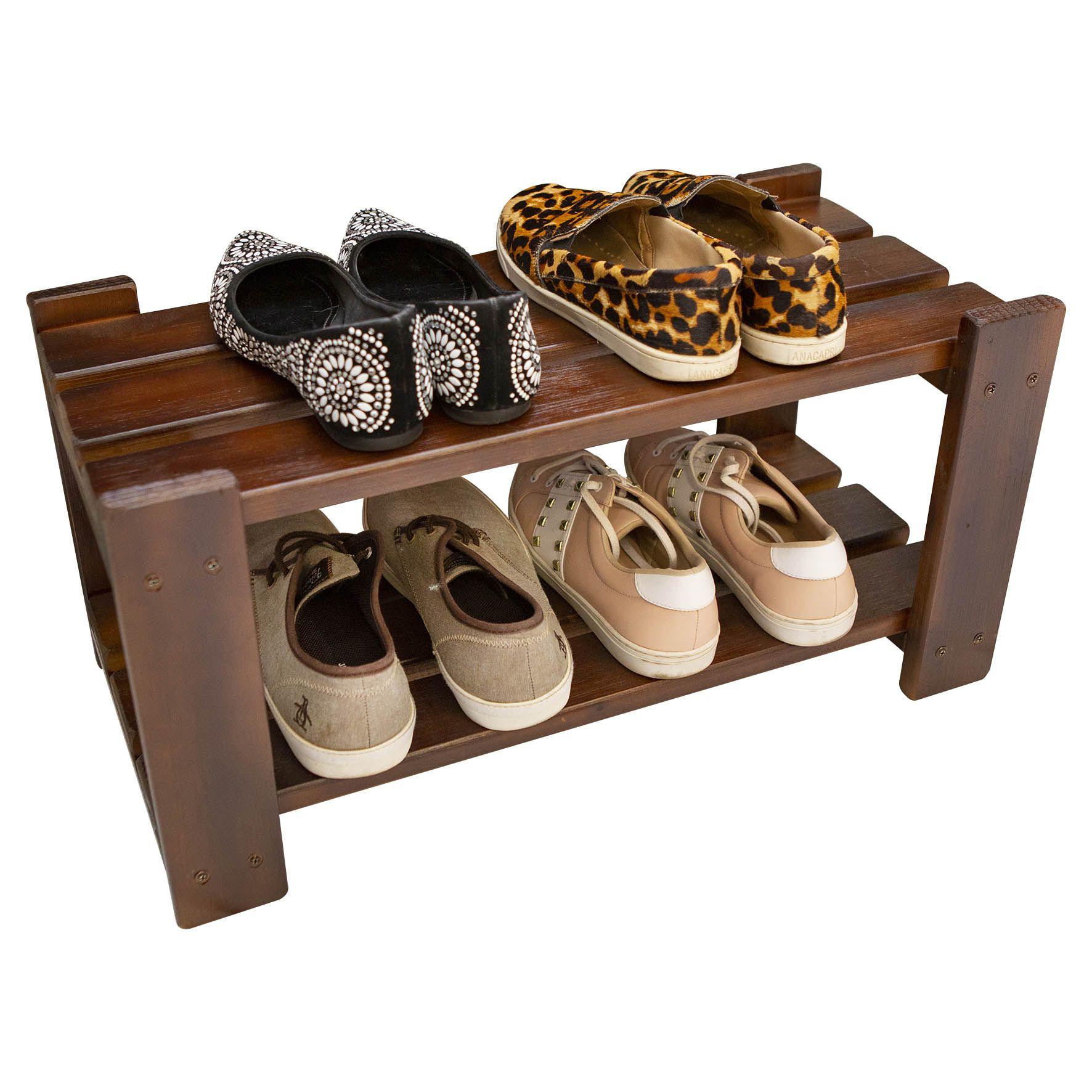 Sapateira em Madeira para Organizar Sapatos Cor Imbuia