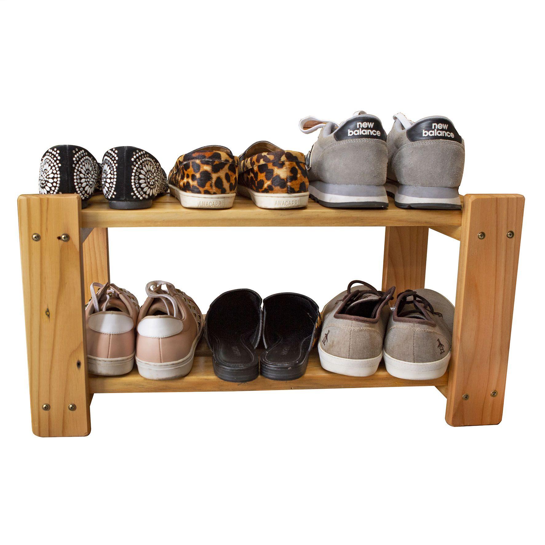 Sapateira em Madeira para Organizar Sapatos Cor Natural