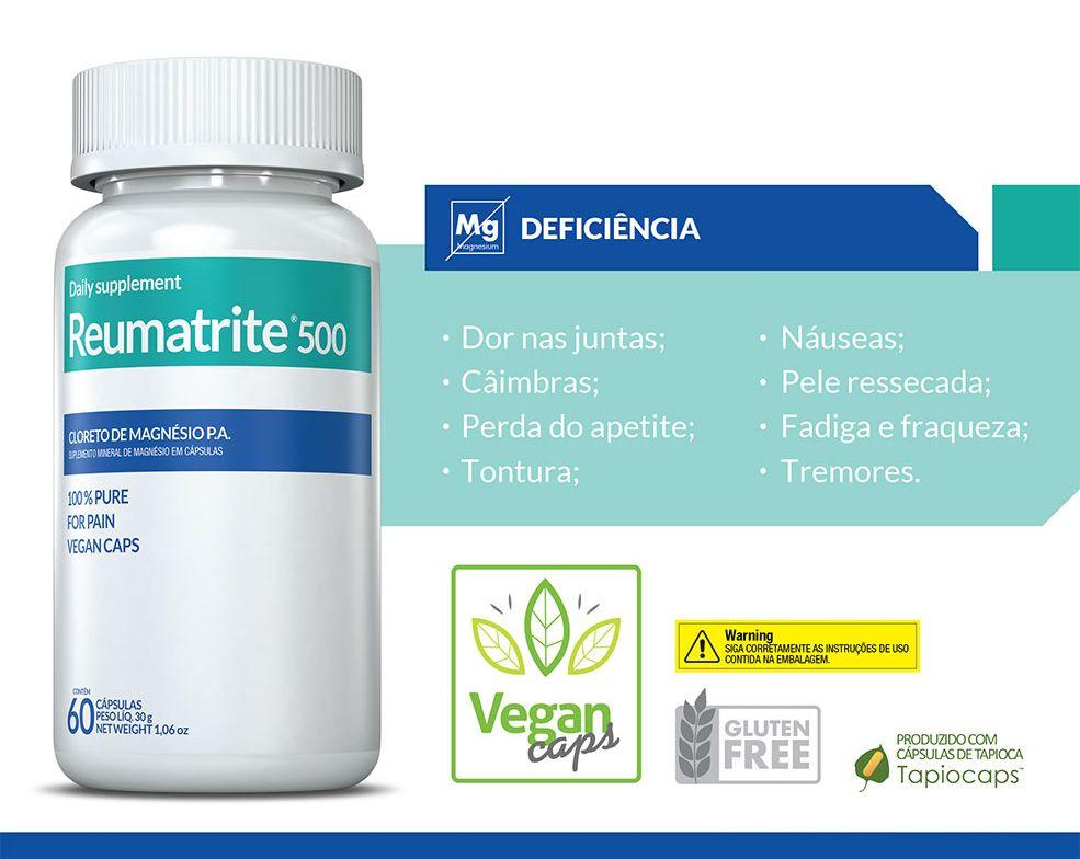 Suplemento Reumatrite 500mg com 60 Cápsulas Inove