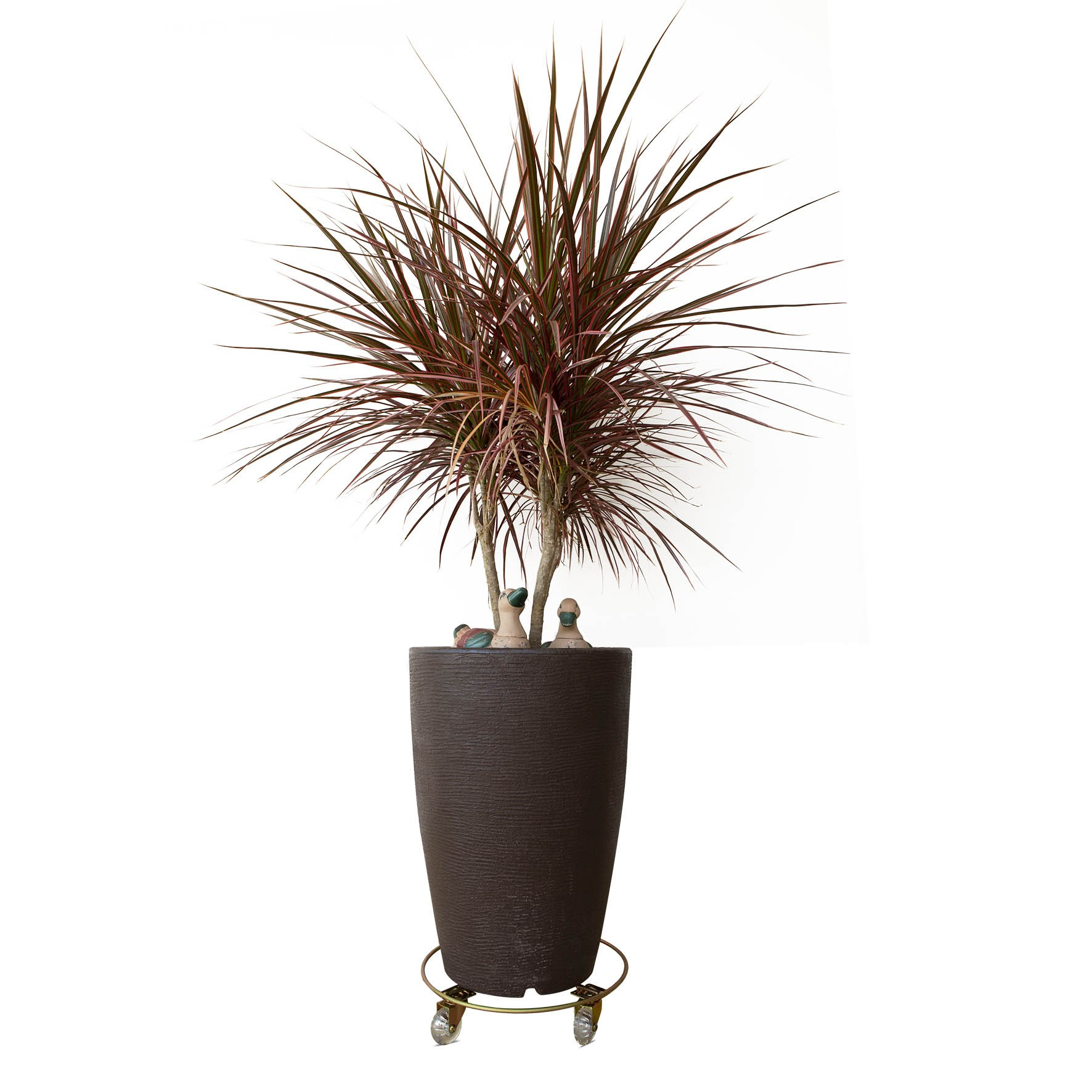Suporte de Vaso para Plantas Com Rodas em Silicone