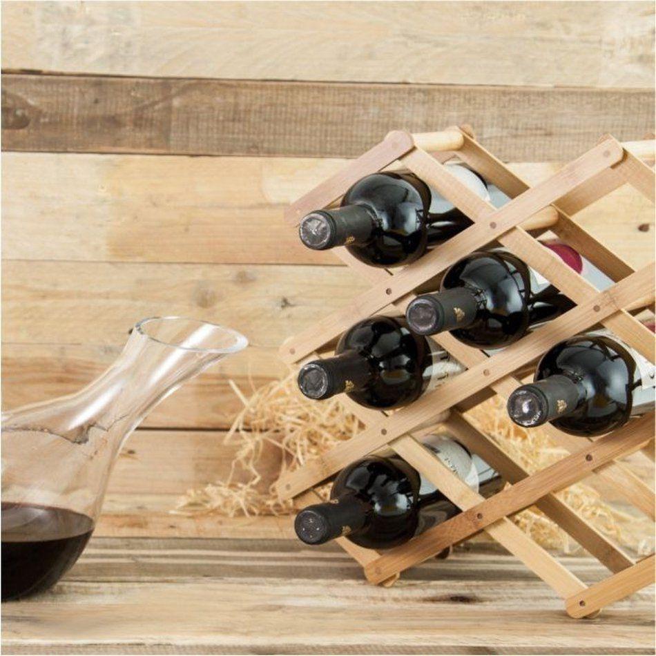 Suporte para Vinhos Retrátil Adega para 8 Garrafas Madeira
