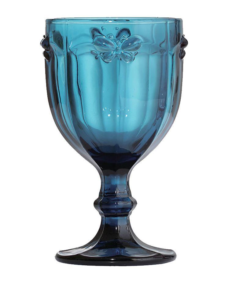 Taça de Água Libélula Azul 260ML Kit com 6 Unidades