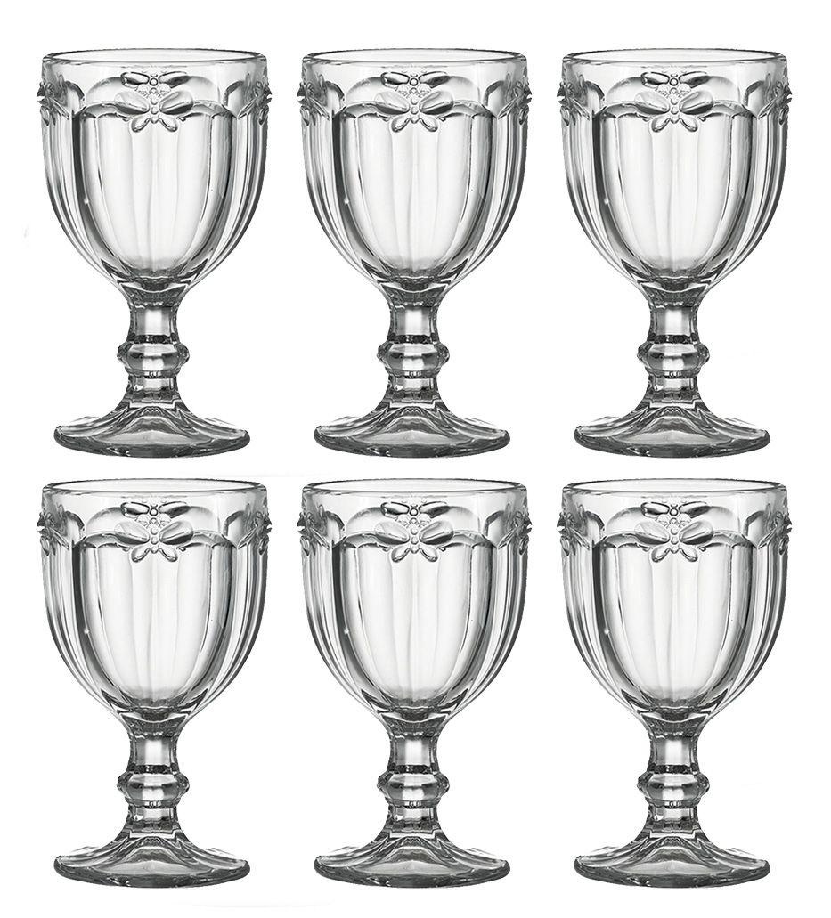 Taça De Água Libélula Transparente Kit 6 Unidades