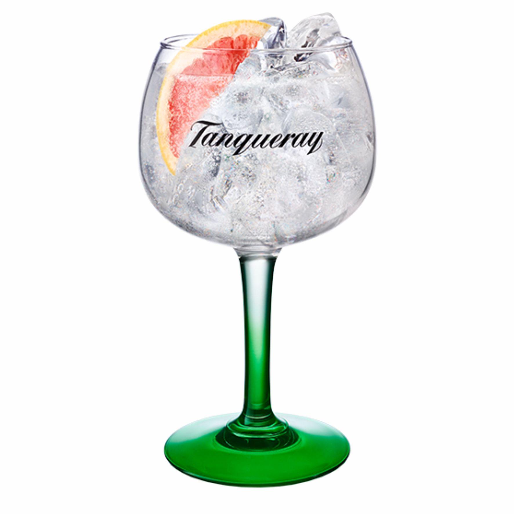 Taça de Gin com Base Verde em Vidro Tanqueray 600 ml