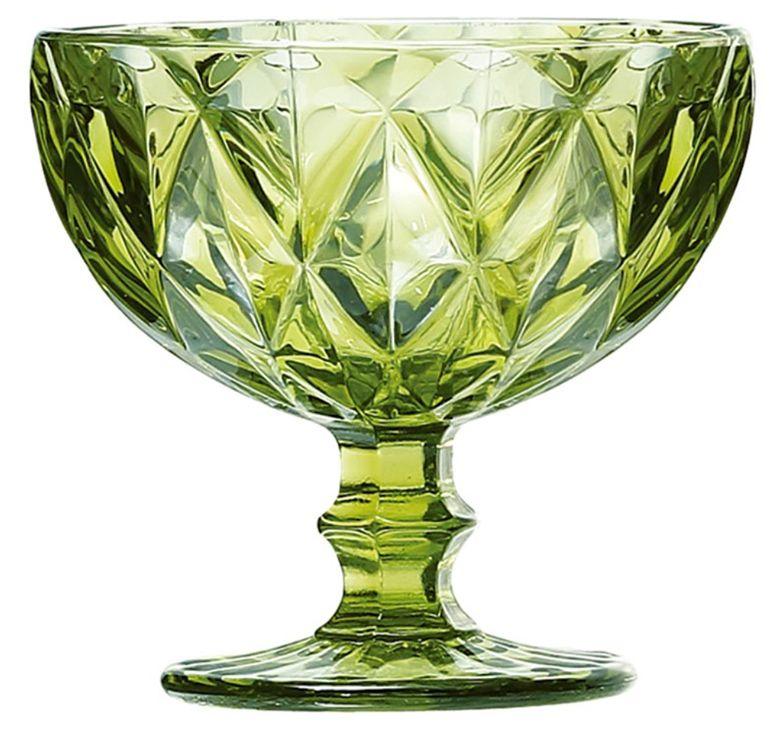 Taça de Sobremesa Coquetel Kit com 12 Diamante Verde 300ml