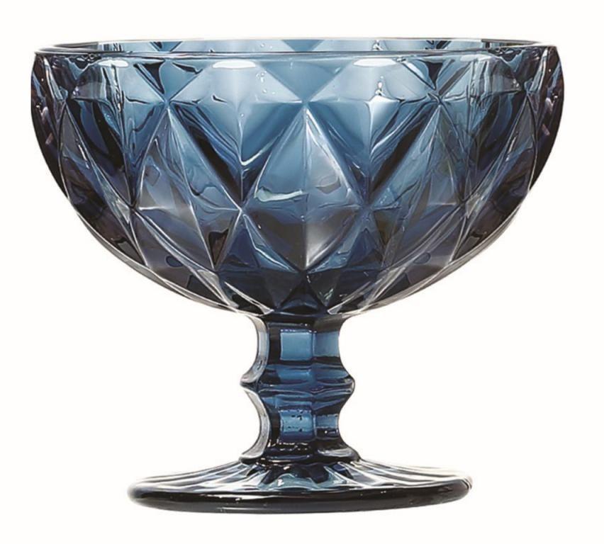 Taça de Sobremesa Coquetel Kit com 8 Diamante Azul 300ml