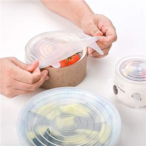 Tampa de Silicone Reutilizável Livre de BPA 6 peças