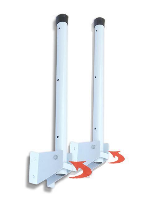 Varal de Parede Retrátil Flexível 50 cm Tubular Branco
