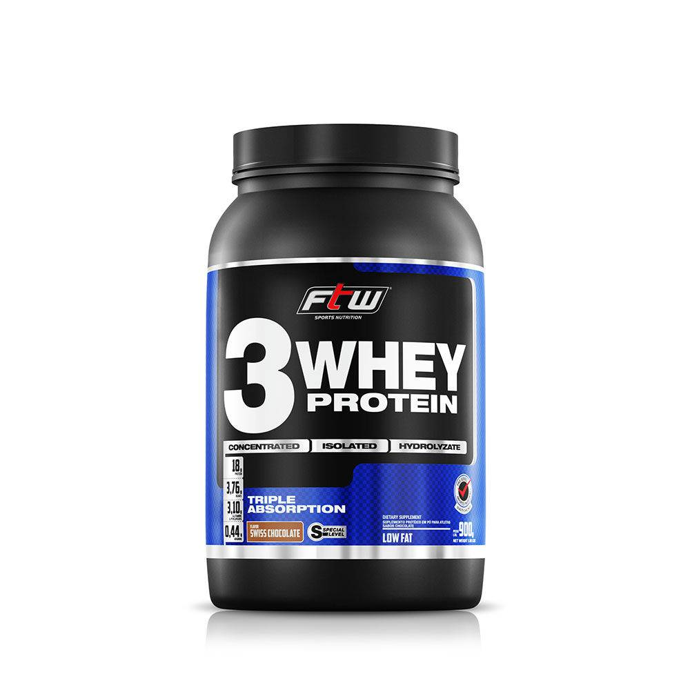 Whey 3 Protein Chocolate 900g FTW