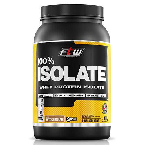 Whey Protein 100% Isolada Chocolate 900g FTW