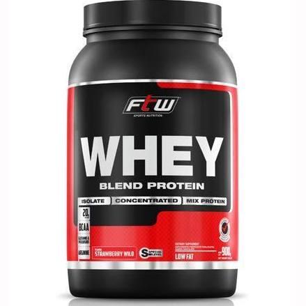Whey Protein Blend Morango 900g FTW