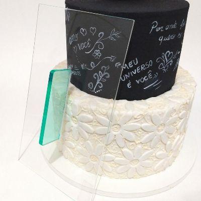 Alisador Reto para quinar bolo em acrílico  22X13