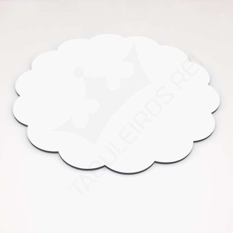 Cake board em MDF  decorado de 25 cm - 3 mm - 10 peças - TABULEIROS REI