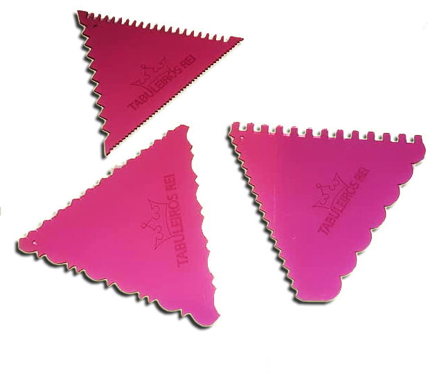 Espátulas Decorativas Triangular Em Acrílico 3 Pças