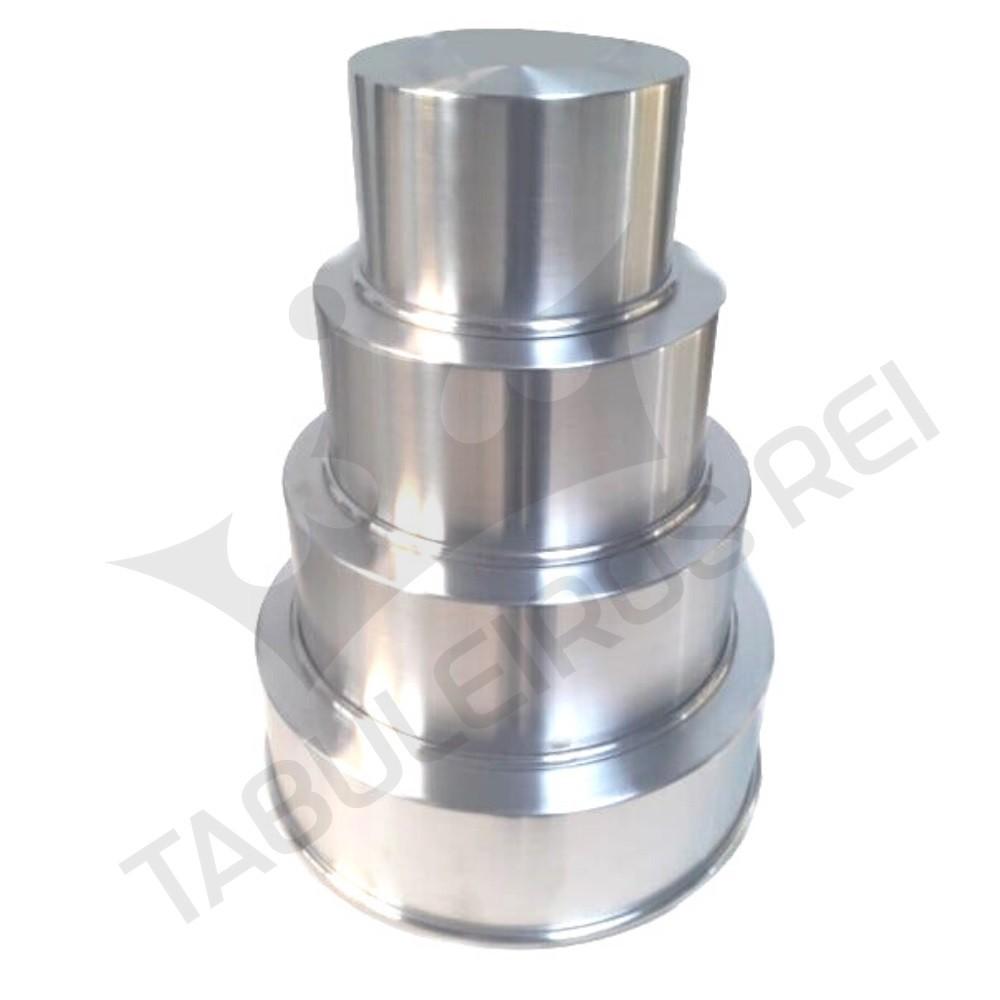 Kit 4 formas de alumínio
