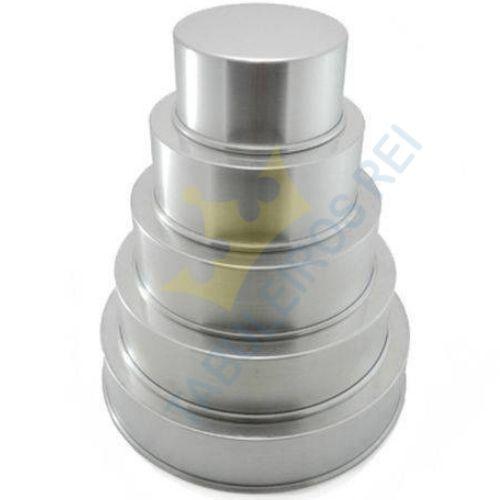 Kit 5 formas de alumínio