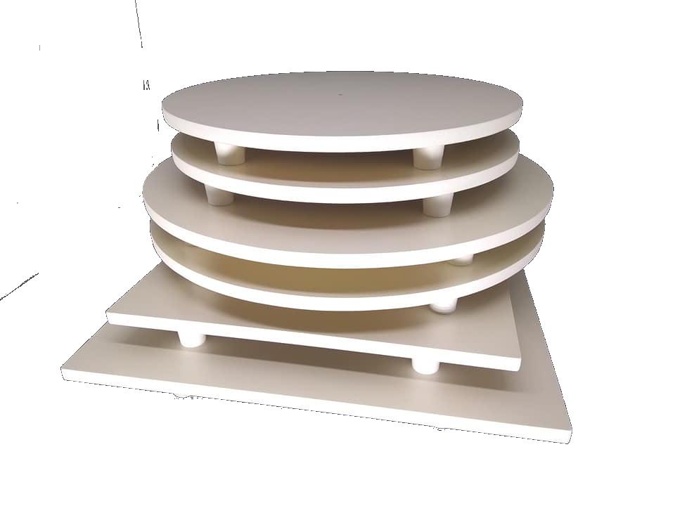 Kit tábuas redondas e quadradas para bolo