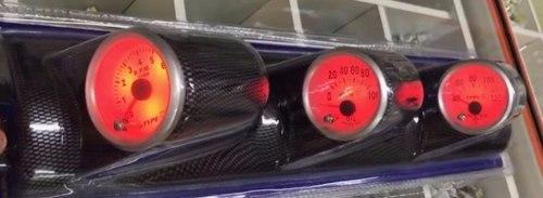 Coluna Com 3 Relógios Instrumento 7 Cores Type R Tuning Led