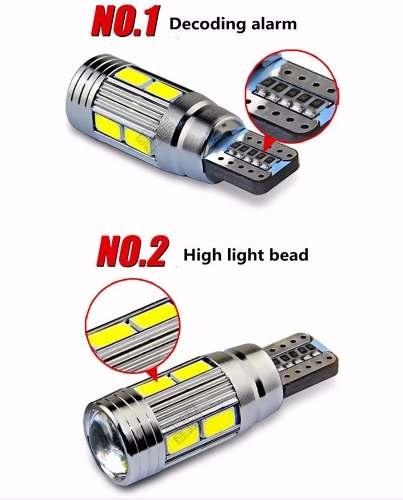 2 Lâmpadas Pingo Cambus Canceller T10 W5w  10 Leds