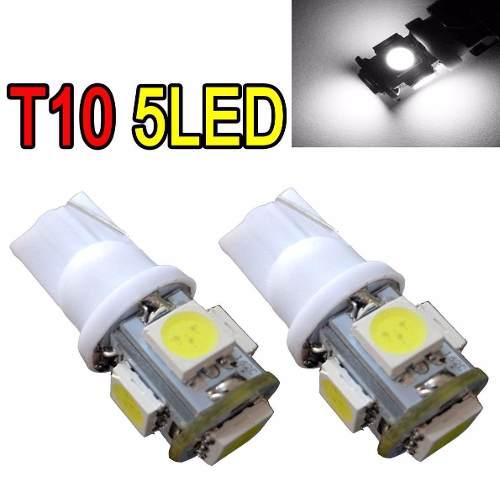 1 Lampada Pingo T10 5 Leds Smd 5050 - W5w Branca