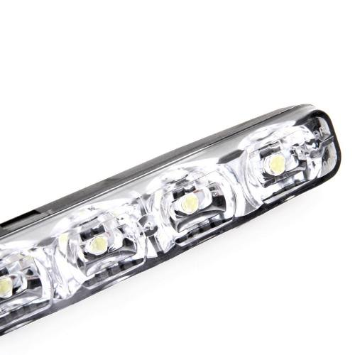 Kit Luz 6 Leds Farol Auxiliar Milha Drl Daylight Tipo Xenon