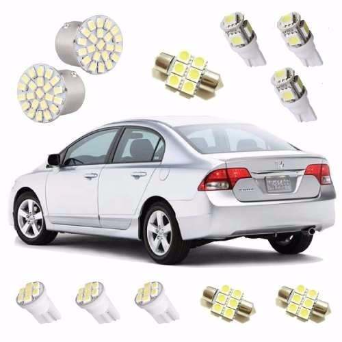 Kit Lâmpadas Leds Honda New Civic Ré Placa Interna Farolete