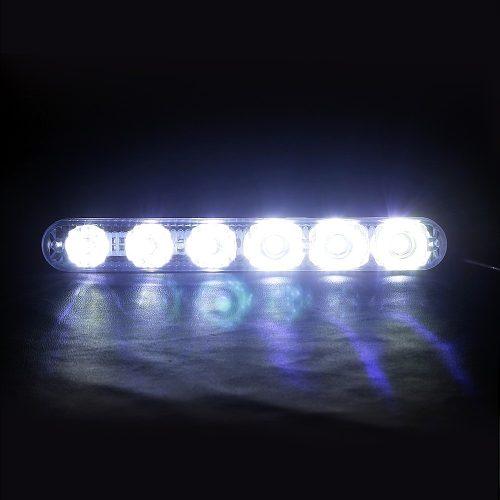 Par Farol Milha Neblina Day Light Led Lampada Drl Universal