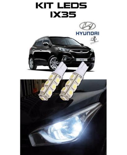 Kit Lampada Led Tipo Xenon Ix35 Teto Lanterna Leitura Porta Luvas Portas Malas Ré