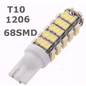 Par Lâmpada Pingo T10 Super Branca 68 Leds Smd Ultra Brilho