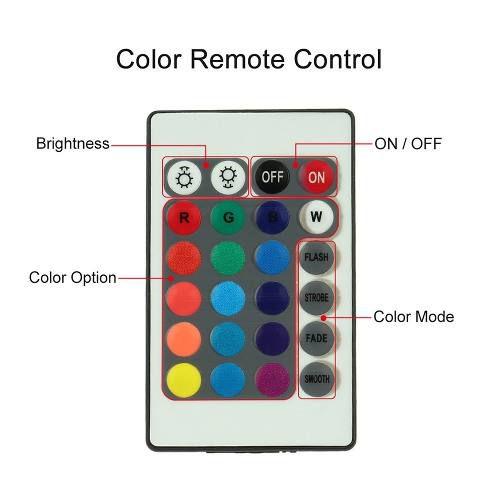 Tira Fita Led Rgb Branca Azul Vermelho 16 Sinal Controle Cor