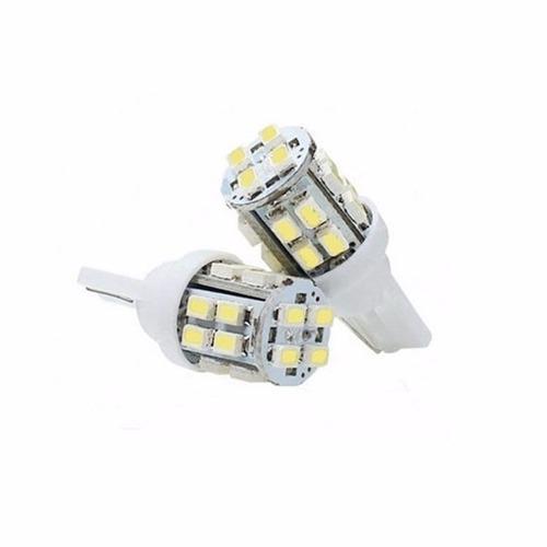 2 Lâmpadas Pingo T10 W5w 20 Led Branco Tipo Xenon Gota