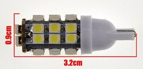 2 Lâmpadas Pingo T10 W5w 28 Led Branco Tipo Xenon Gota