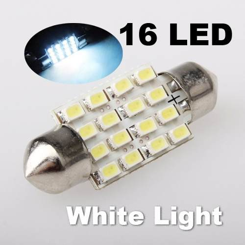 1 Lâmpada Teto  Torpedo ou Placa  36mm Com 16 Led 12v