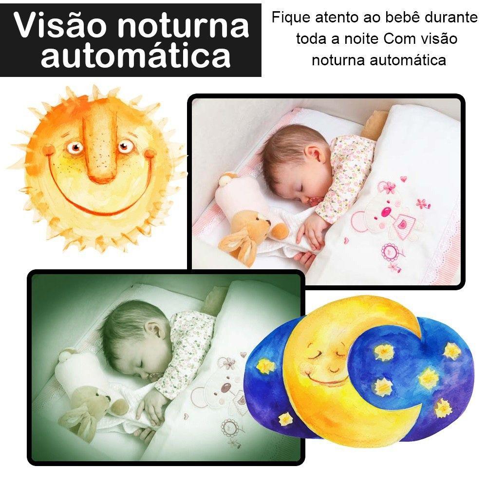 Babá Eletrônica Com Vídeo Monitor Colorido E Visão Noturna
