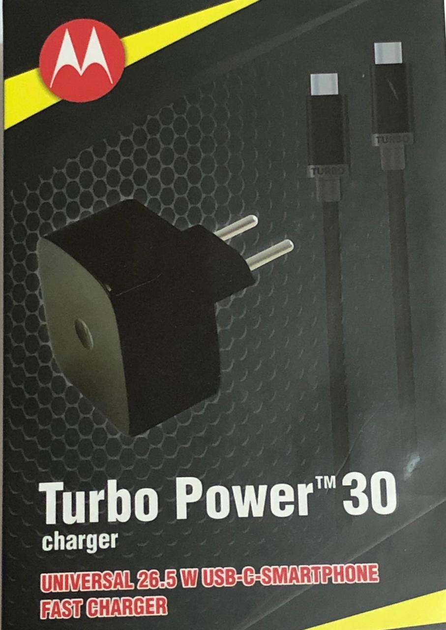 Carregador Motorola Turbo Power Usb C Tipo C 30w Original